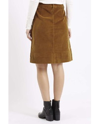 9cd09451928 ... Petite Cord Button Front Midi Skirt ...