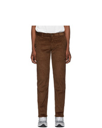 Naked and Famous Denim Brown Velvet Twill Chinos