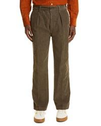 Drake's Games Single Pleat Cotton Corduroy Trousers