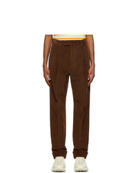Gucci Brown Regular Fit Corduroy Trousers