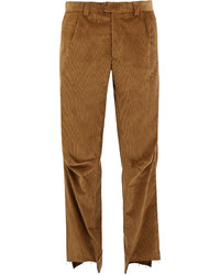 Vetements Darted Knee Cotton Corduroy Trousers