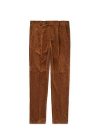 Brunello Cucinelli Pleated Cotton Corduroy Trousers