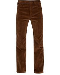 Prada Straight Leg Cotton Corduroy Trousers