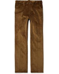 Prada Two Tone Cotton Corduroy Trousers