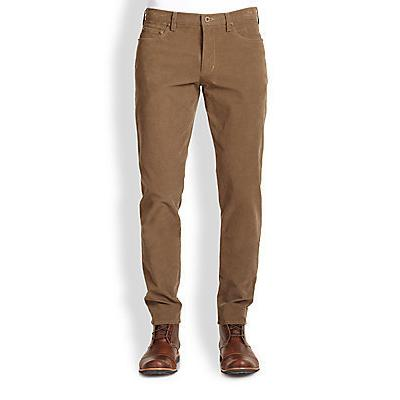 Vince Stretch Cotton Corduroy Pants Tobacco | Where to buy & how ...