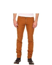 DSQUARED2 Corduroy Slim Jean Jeans Biscuit