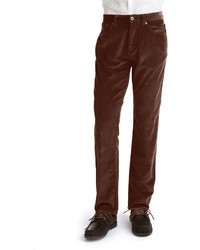 Black Brown 1826 Straight Leg Cotton Corduroy Pants