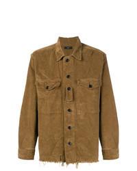 Brown Corduroy Long Sleeve Shirt
