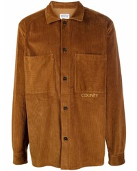 Marcelo Burlon County of Milan Corduroy Long Sleeve Shirt