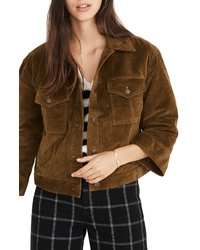 Brown Corduroy Shirt Jacket