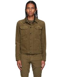 Tom Ford Khaki Corduroy Waves Jacket