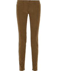 Brown Corduroy Skinny Pants