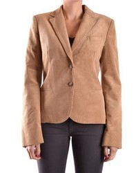 Dolce E Gabbana Brown Cotton Blazer