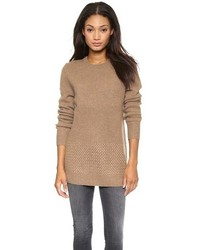 Brown crew neck sweater original 1328685