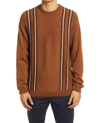 Wood Wood Becket 3d Stripe Crewneck Wool Sweater