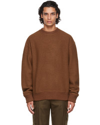 System Brown Wool Boucl Sweater