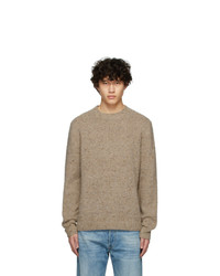 Acne Studios Brown Wool Peele Crewneck Sweater