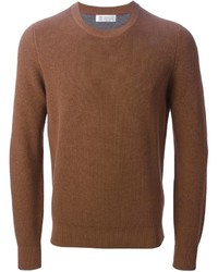 Brunello Cucinelli Crew Neck Ribbed Sweater