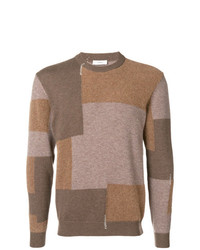 Mauro Grifoni Colour Block Fitted Sweater