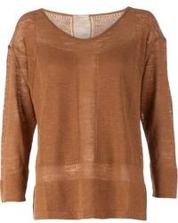 Maison Ullens Contrast Knit Sweater