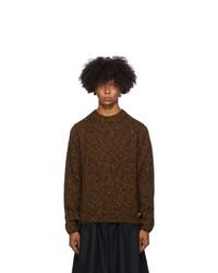 Dries Van Noten Orange And Black Marled Sweater