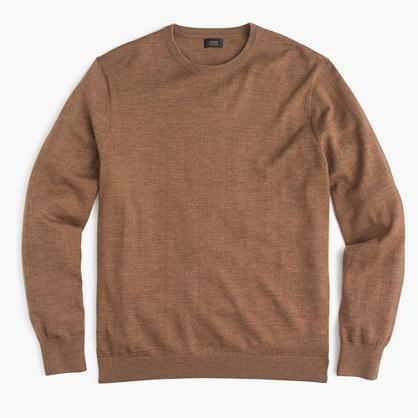 f8515333a4c197 J.Crew Slim Italian Merino Wool Crewneck Sweater, $79 | J.Crew ...