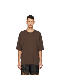 Dries Van Noten Brown Cotton T Shirt