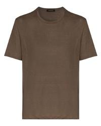 Ermenegildo Zegna Crew Neck Linen T Shirt