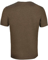 Topman Dark Brown Marl Crew Neck T Shirt