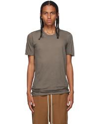 Rick Owens Grey Basic Short Sleeve T Shirt