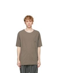 Lemaire Grey Crepe Jersey T Shirt
