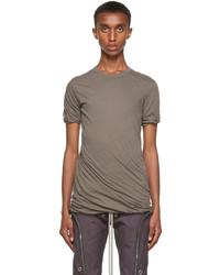 Rick Owens Grey Double Short Sleeve T Shirt
