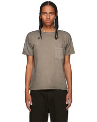 Taiga Takahashi Grey Pocket T Shirt