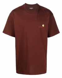Carhartt WIP Logo Embroidered Cotton T Shirt