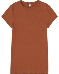 Uniqlo Ribbed Crewneck Short Sleeve T Shirt