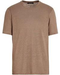 Ermenegildo Zegna Short Sleeve Linen T Shirt