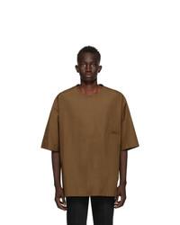 Lemaire Tan Cotton Poplin T Shirt