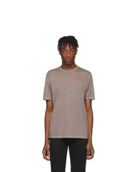 Maison Margiela Three Pack Grey And Brown Jersey T Shirt