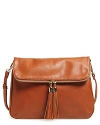 Foldover Crossbody Bag Black