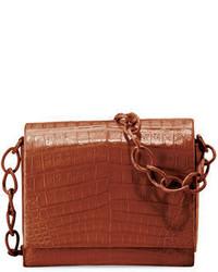Nancy Gonzalez Gio Crocodile Chain Crossbody Bag