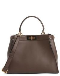 Fendi Peek A Boo Medium Crossbody Bag Brown