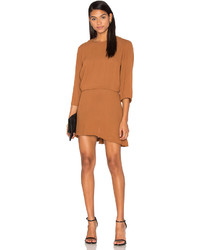 Pfeiffer the ray open back dress in brown medium 3645161
