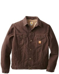 Carhartt big tall sherpa lined sandstone jean jacket medium 111706