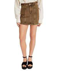 Free People Topstitch Detail Miniskirt