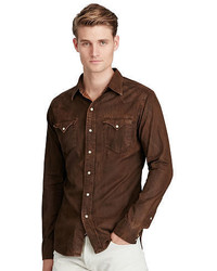 Brown Denim Shirt