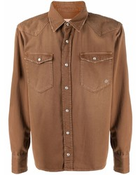 Eleventy Western Style Fitted Shirt