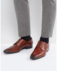 Paul Smith Ps By Roth Derby Lace Up Shoes In Tan