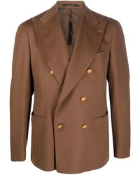 Tagliatore Double Breasted Camel Hair Jacket