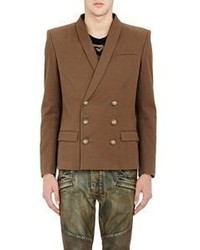 Balmain Double Breasted Sportcoat Brown Size 52 Eu