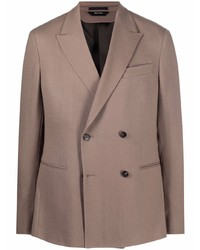 Z Zegna Notched Lapel Double Breasted Blazer